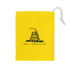 Gadsden Flag Don t Tread On Me Drawstring Pouches (large)  by MAGA
