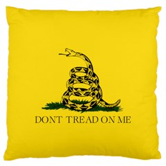 Gadsden Flag Don t Tread On Me Standard Flano Cushion Case (one Side) by MAGA