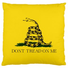 Gadsden Flag Don t Tread On Me Standard Flano Cushion Case (two Sides) by MAGA