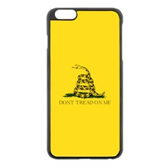 Gadsden Flag Don t Tread On Me Apple Iphone 6 Plus/6s Plus Black Enamel Case by MAGA