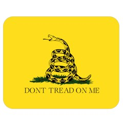 Gadsden Flag Don t Tread On Me Double Sided Flano Blanket (medium)  by MAGA