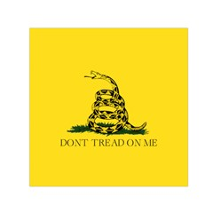 Gadsden Flag Don t Tread On Me Small Satin Scarf (square) by MAGA