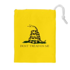 Gadsden Flag Don t Tread On Me Drawstring Pouches (extra Large) by MAGA