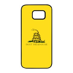 Gadsden Flag Don t Tread On Me Samsung Galaxy S7 Edge Black Seamless Case by MAGA