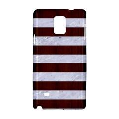 Stripes2white Marble & Reddish Brown Wood Samsung Galaxy Note 4 Hardshell Case by trendistuff