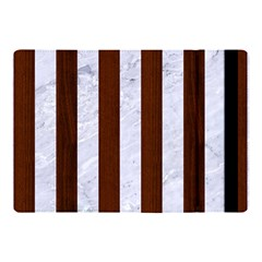 Stripes1 White Marble & Reddish Brown Wood Apple Ipad Pro 10 5   Flip Case by trendistuff