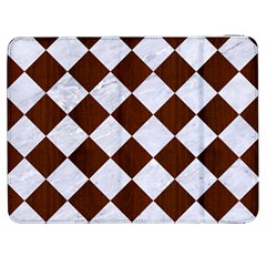 Square2 White Marble & Reddish Brown Wood Samsung Galaxy Tab 7  P1000 Flip Case by trendistuff
