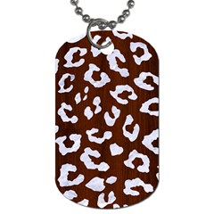 Skin5 White Marble & Reddish Brown Wood (r) Dog Tag (two Sides) by trendistuff