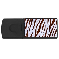 Skin3 White Marble & Reddish Brown Wood (r) Rectangular Usb Flash Drive by trendistuff