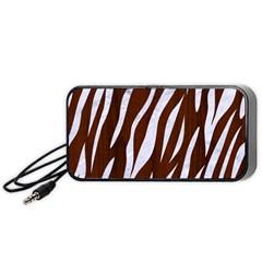 Skin3 White Marble & Reddish Brown Wood Portable Speaker