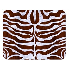 Skin2 White Marble & Reddish Brown Wood Double Sided Flano Blanket (large)