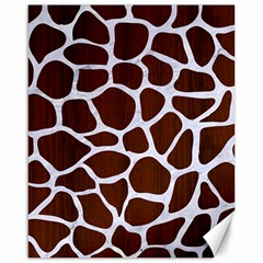 Skin1 White Marble & Reddish Brown Wood (r) Canvas 16  X 20   by trendistuff