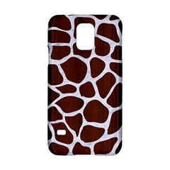 Skin1 White Marble & Reddish Brown Wood (r) Samsung Galaxy S5 Hardshell Case  by trendistuff
