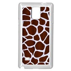 Skin1 White Marble & Reddish Brown Wood (r) Samsung Galaxy Note 4 Case (white) by trendistuff