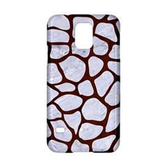 Skin1 White Marble & Reddish Brown Wood Samsung Galaxy S5 Hardshell Case  by trendistuff