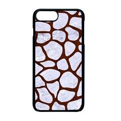 Skin1 White Marble & Reddish Brown Wood Apple Iphone 7 Plus Seamless Case (black) by trendistuff