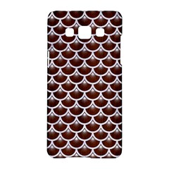 Scales3 White Marble & Reddish Brown Wood Samsung Galaxy A5 Hardshell Case  by trendistuff