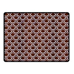 Scales2 White Marble & Reddish Brown Wood Double Sided Fleece Blanket (small)  by trendistuff