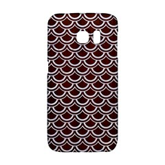 Scales2 White Marble & Reddish Brown Wood Galaxy S6 Edge by trendistuff