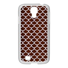 Scales1 White Marble & Reddish Brown Wood Samsung Galaxy S4 I9500/ I9505 Case (white) by trendistuff