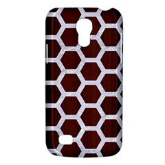 Hexagon2 White Marble & Reddish Brown Wood Galaxy S4 Mini