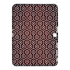 Hexagon1 White Marble & Reddish Brown Wood Samsung Galaxy Tab 4 (10 1 ) Hardshell Case  by trendistuff