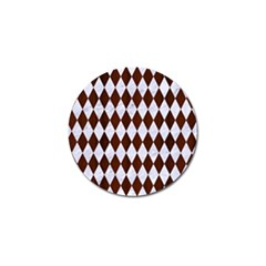 Diamond1 White Marble & Reddish Brown Wood Golf Ball Marker (10 Pack) by trendistuff