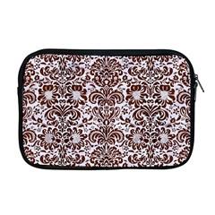 Damask2 White Marble & Reddish Brown Wood (r) Apple Macbook Pro 17  Zipper Case by trendistuff