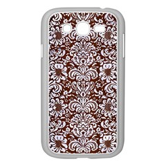 Damask2 White Marble & Reddish Brown Wood Samsung Galaxy Grand Duos I9082 Case (white)