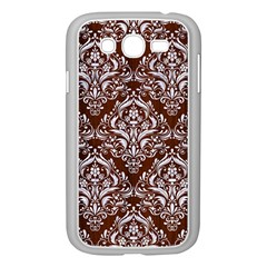 Damask1 White Marble & Reddish Brown Wood Samsung Galaxy Grand Duos I9082 Case (white)