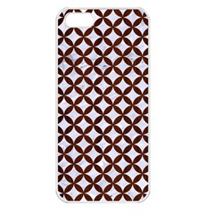 Circles3 White Marble & Reddish Brown Wood (r) Apple Iphone 5 Seamless Case (white) by trendistuff