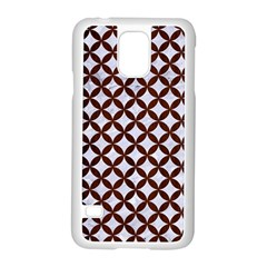 Circles3 White Marble & Reddish Brown Wood (r) Samsung Galaxy S5 Case (white) by trendistuff