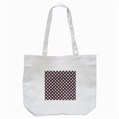 Circles3 White Marble & Reddish Brown Wood (r) Tote Bag (white) by trendistuff