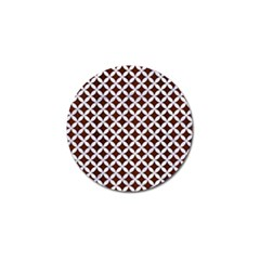 Circles3 White Marble & Reddish Brown Wood Golf Ball Marker (10 Pack) by trendistuff