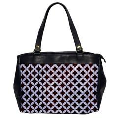 Circles3 White Marble & Reddish Brown Wood Office Handbags by trendistuff
