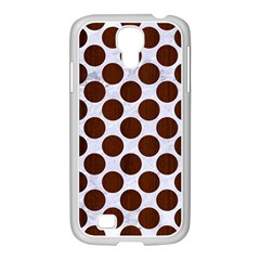 Circles2 White Marble & Reddish Brown Wood (r) Samsung Galaxy S4 I9500/ I9505 Case (white) by trendistuff