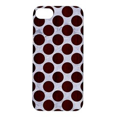 Circles2 White Marble & Reddish Brown Wood (r) Apple Iphone 5s/ Se Hardshell Case