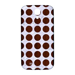 Circles1 White Marble & Reddish Brown Wood (r) Samsung Galaxy S4 I9500/i9505  Hardshell Back Case by trendistuff