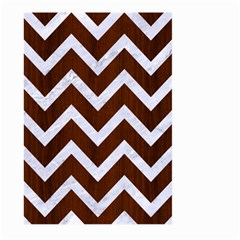 Chevron9 White Marble & Reddish Brown Wood Large Garden Flag (two Sides)