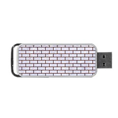 Brick1 White Marble & Reddish Brown Wood (r) Portable Usb Flash (two Sides) by trendistuff