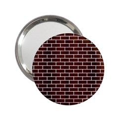 Brick1 White Marble & Reddish Brown Wood 2 25  Handbag Mirrors by trendistuff