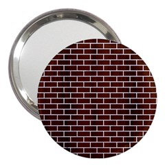 Brick1 White Marble & Reddish Brown Wood 3  Handbag Mirrors by trendistuff
