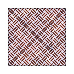 Woven2 White Marble & Reddish Brown Leather (r) Acrylic Tangram Puzzle (6  X 6 ) by trendistuff
