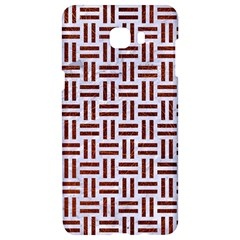 Woven1 White Marble & Reddish Brown Leather (r) Samsung C9 Pro Hardshell Case  by trendistuff