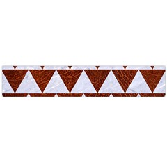 Triangle2 White Marble & Reddish Brown Leather Large Flano Scarf  by trendistuff