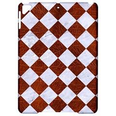 Square2 White Marble & Reddish Brown Leather Apple Ipad Pro 9 7   Hardshell Case by trendistuff