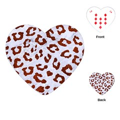 Skin5 White Marble & Reddish Brown Leather Playing Cards (heart)  by trendistuff
