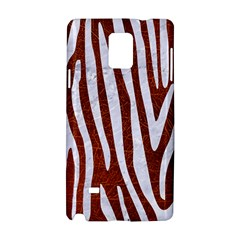 Skin4 White Marble & Reddish Brown Leather (r) Samsung Galaxy Note 4 Hardshell Case by trendistuff