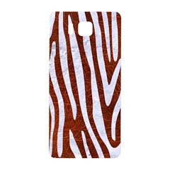 Skin4 White Marble & Reddish Brown Leather (r) Samsung Galaxy Alpha Hardshell Back Case by trendistuff