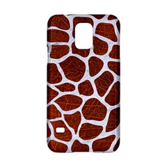 Skin1 White Marble & Reddish Brown Leather (r) Samsung Galaxy S5 Hardshell Case  by trendistuff